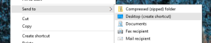 Send To Zip Folder