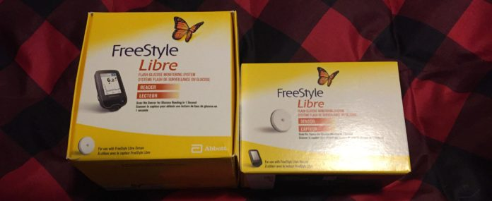 The Freestyle LIbre System - consisting of a Libre Reader and the Glucose 14 Day Sensor.