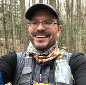 Picture of me: Dressed for a spring trail run.
