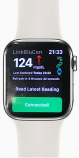 Ambrosia BluCon integrates will into your Apple Watch.  Receive Libre Readings directly to your Apple Watch allowing total hand free use of your Libre Sensor.