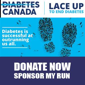 Sponsor Me | Diabetes Canada #LaceUp10K